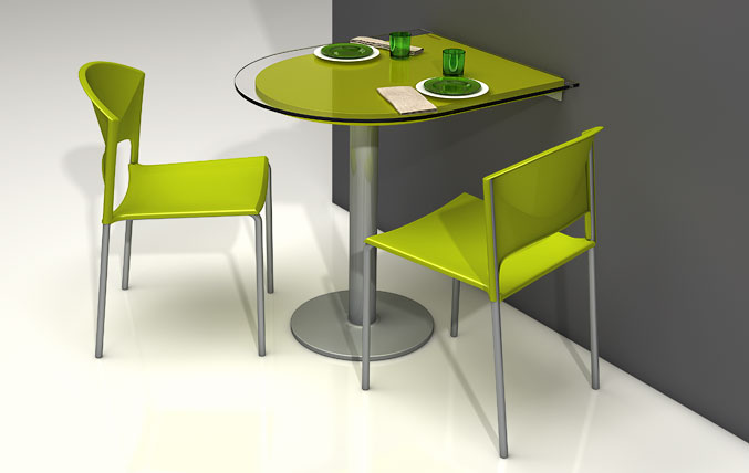 Table murale de cuisine interesting sobuy fwtw bureau for Raf cuisine pro