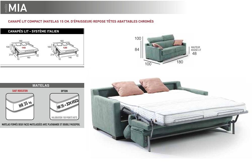 Canap lit meubles canap s chezsoidesign st cyr sur mer for Canape 140 cm de large