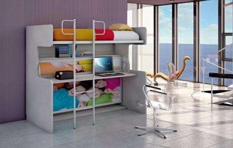 Chambre enfant meubles canap s chezsoidesign st cyr sur mer - Lits superposes sur mesure ...