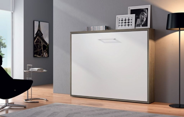 Lit escamotable meubles canap s chezsoidesign st for Lit armoire design